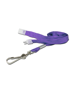 AC218-PU-MC - Breakaway lanyard - 10mm wide - Various Colours - Metal Clip-Purple