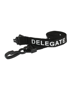 AC222-DG-BK - Breakaway lanyard - 15mm wide - DELEGATE - Black