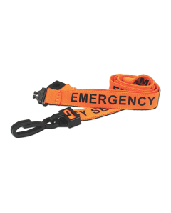 AC222-ES-OR - Breakaway lanyard - 15mm wide - EMERGENCY SERVICES - Orange