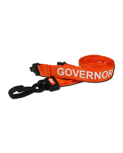 AC222-GOV-OR - Breakaway lanyard - 15mm wide - GOVERNOR - Various Colours-Orange