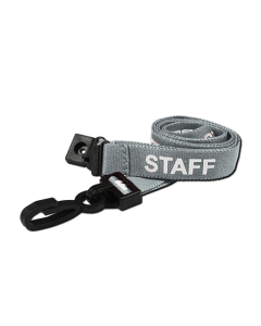 AC222-SF-GY - Breakaway lanyard - 15mm wide - STAFF - Various Colours-Grey