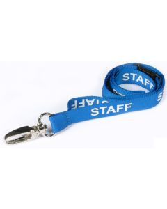 AC222-SF-SB-MLC - Breakaway lanyard,15mm STAFF - Various Colours - metal lobster clip-Sky Blue