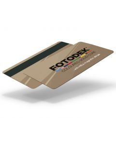 DG76-H27-A-SC - FOTODEK Solid Coloured-Core Card With Magnetic Stripe - Ballroom Gold Metallic