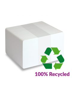100% recycled material blank white plastic cards - ECO-100