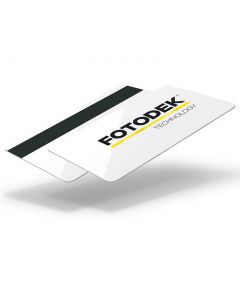 MI1-82-H27-A - FOTODEK TECHNOLOGY white 820 micron plastic cards with a NXP MIFARE 1k chip and Hi-Co 2750oe magnetic stripe.