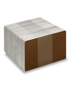 PVC1-BR - PVC1 Coloured White Core Cards - Various Colours Available-Brown