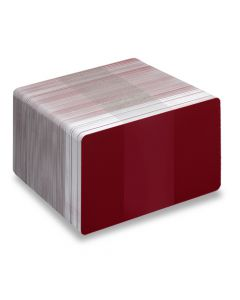 PVC1-BY - PVC1 Coloured White Core Cards - Various Colours Available-Burgundy