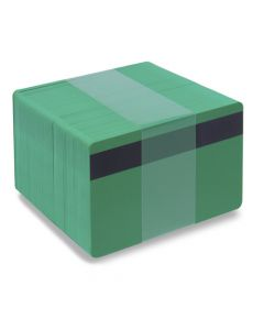 PVC1-GRH27S - PVC1 Solid Coloured Core With Mag Stripe - Various Colours Available-Dark Green