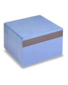 PVC1-RBH27S - PVC1 Solid Coloured Core With Mag Stripe - Various Colours Available-Mid Blue