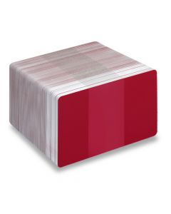 PVC1-RD - PVC1 Coloured White Core Cards - Various Colours Available-Red