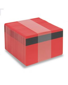 PVC1-RDH27S - PVC1 Solid Coloured Core With Mag Stripe - Various Colours Available-Red