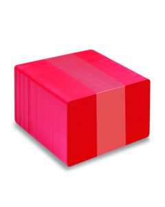 PVC1-RDS - PVC1 Solid Coloured-Core Cards - Various Colours Available-Red