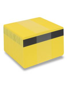 PVC1-YLH27S - PVC1 Solid Coloured Core With Mag Stripe - Various Colours Available-Yellow