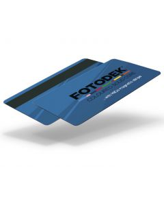 RB76-H27-A-SC - FOTODEK Solid Coloured-Core Card With Magnetic Stripe - Pacific Blue