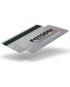 SI76-H27-A-SC - FOTODEK Solid Coloured-Core Card With Magnetic Stripe - Quicksilver Metallic