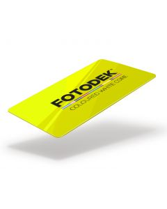YL76-FL-A - FOTODEK Coloured White-Core Card-Hi-Viz Yellow Fluorescent
