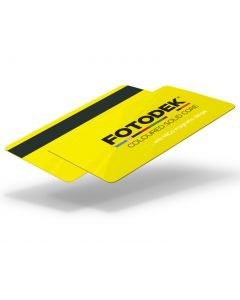 YL76-H27-A-SC - FOTODEK Solid Coloured-Core Card With Magnetic Stripe - Canary Yellow